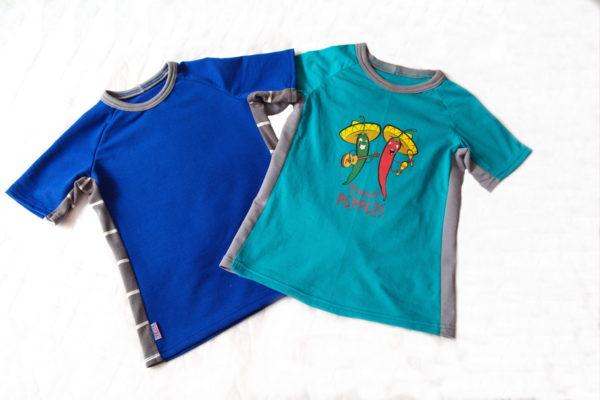 готовые детские футболки с боковыми вставками