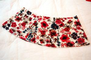 готовые расклешенные полотнища детской трикотажной юбки