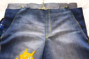 отстрачиваем гульфик на детских джинсах