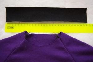 выкраиваем обтачку горловины для детской футболки