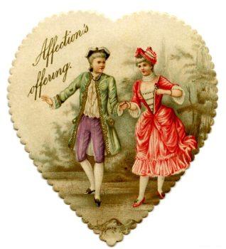 вариант старинных валентинок