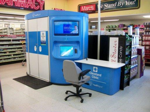 HealthSpot kiosk in RiteAid
