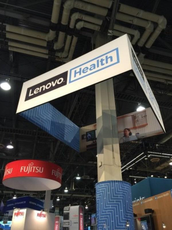 Lenovo display at HIMSS16