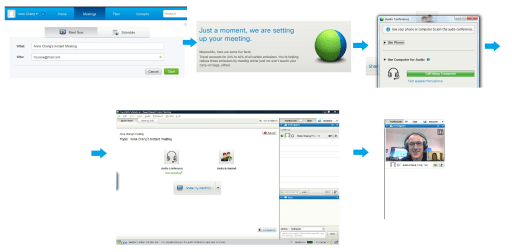 6 clicks to start an instant meeting in WebEx