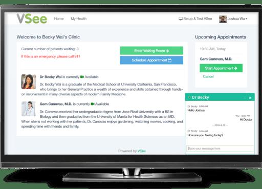 VSee virtual visit clinic