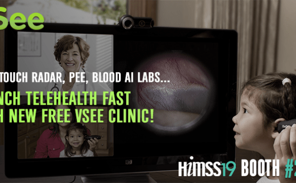 VSee Launches Radar, Pee, Blood AI Labs & Free Clinic at HIMSS19, Feb. 11-15