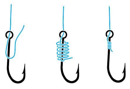 Nœud pour la colonne vertébrale de crochet