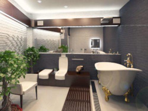 Стиль Лофт в интерьере ванной-1