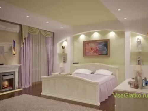 Эко стиль в интерьере спальной-1