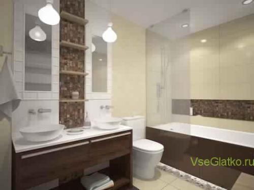 Эко стиль в интерьере ванной-1