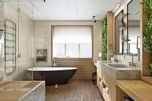Эко стиль в интерьере ванной-2