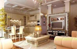 Стиль Фьюжн в интерьере гостиной-2