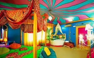 Стиль Китч в интерьере спальной-2