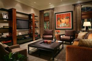 Африканский стиль в интерьере гостиной-1
