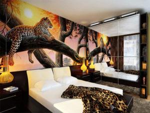 Африканский стиль в интерьере спальной-2
