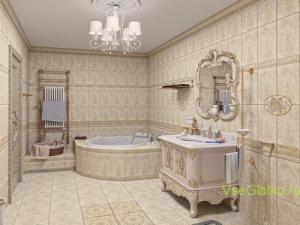 Стиль Ампир в интерьере ванной-1