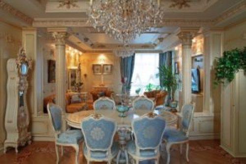 Стиль Барокко в интерьере гостиной-1