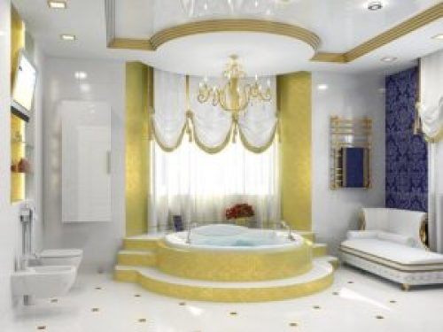 Стиль Барокко в интерьере ванной-2