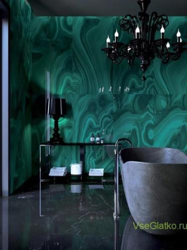 Стиль Готика в интерьере ванной-2