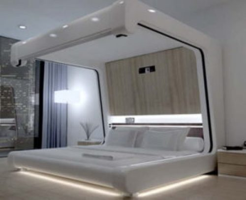 Стиль Хай-тек в интерьере спальной-1