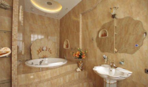 Стиль Модерн в интерьере ванной-1