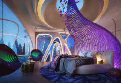 Стиль Сюрреализм в интерьере спальной-3