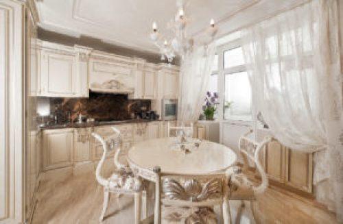 Стиль Рококо в интерьере кухни-2