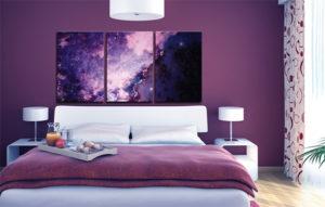 Космический стиль в интерьере спальной-2