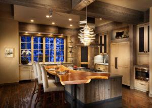Охотничий стиль в интерьере кухни-1