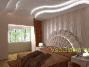 Подсветка светодиодной лентой спальной-1