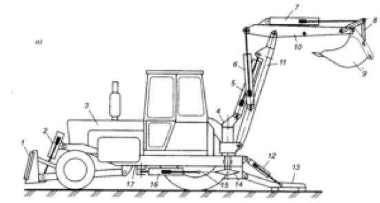 Схема экскаватора