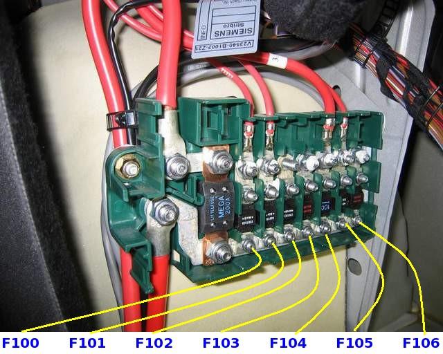 I Starter Diagram Wiring Schematic Предохранители и блоки реле бмв е39 со схемами и описанием