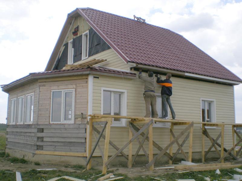 Внешняя отделка домов из бруса и правило проведения работ