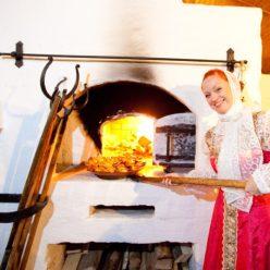 русские блюда в печи