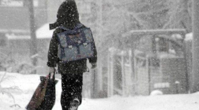 Когда отменяются занятия в школах, если на улице мороз