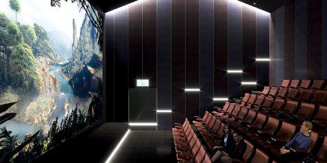 кинотеатр в деревянной школе