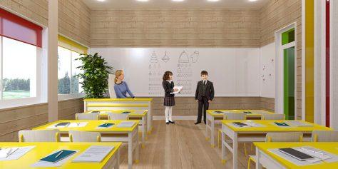 класс в деревянной школе