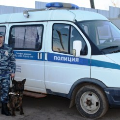 Полицейский из Уржума со своей служебной собакой