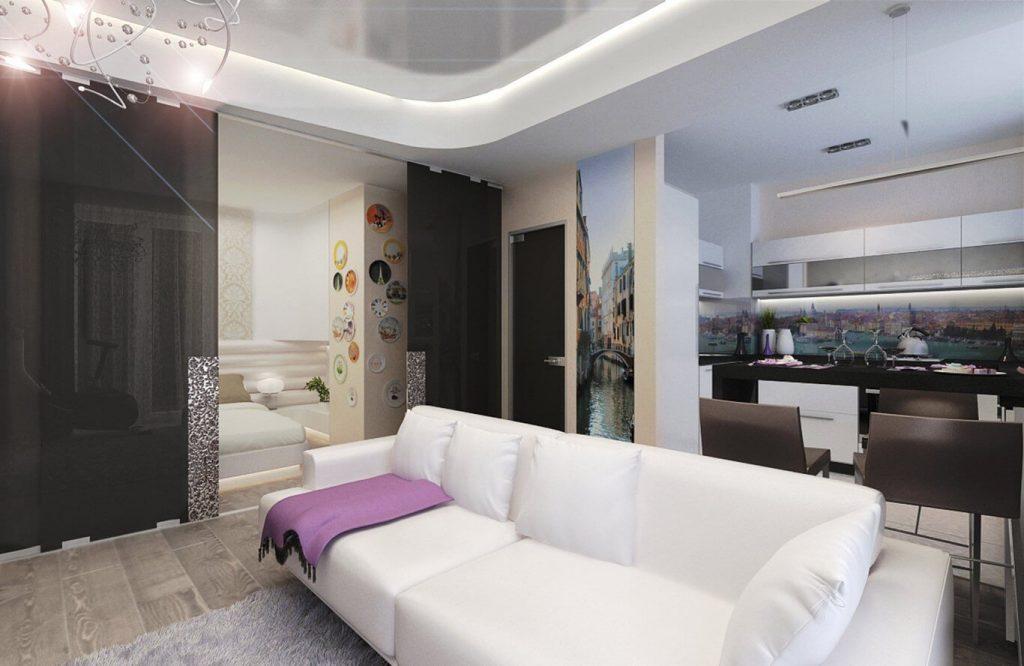 дизайн гостинной 17 метров 1