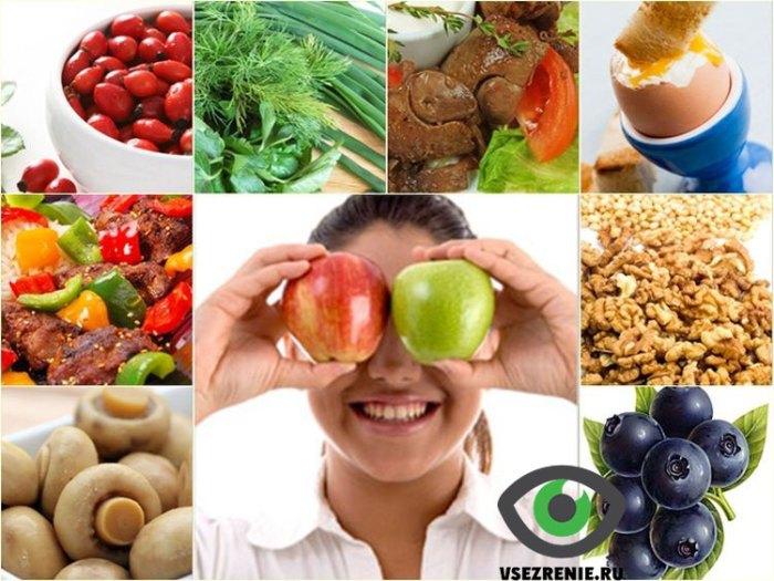 Правильное питание для хорошего зрения