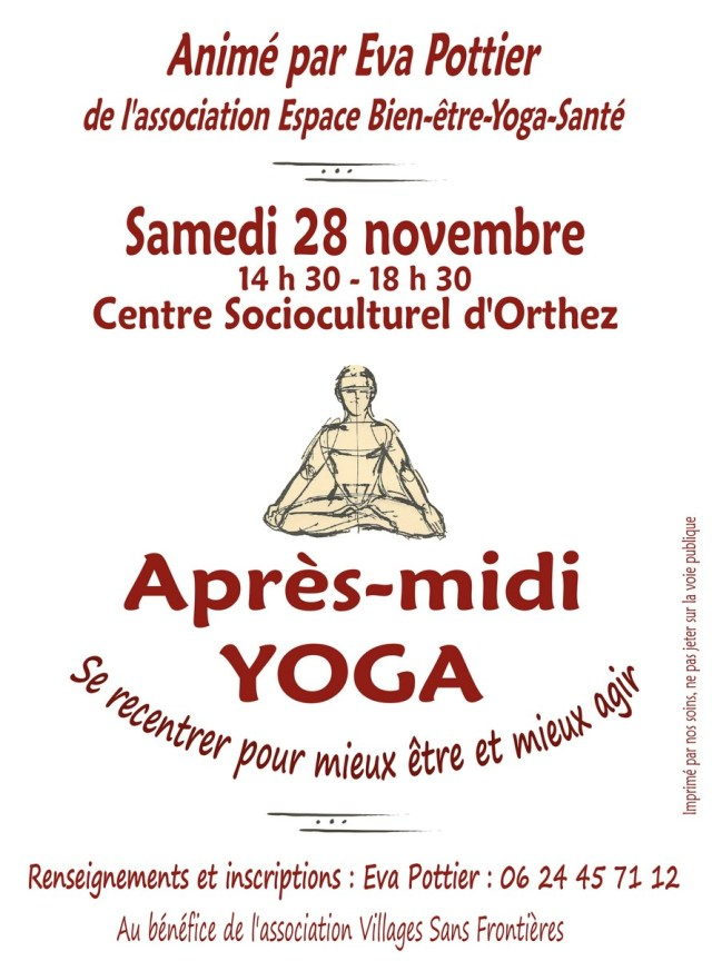 Affiche Yoga 2015