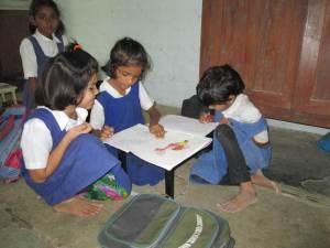 Ecolières école Sewagram