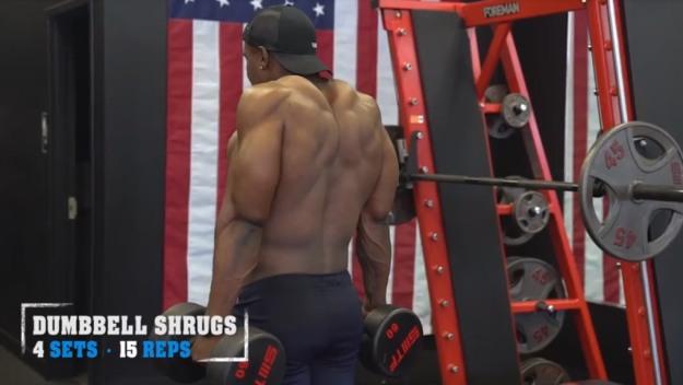 Dumbbell Shrugs | V Shred's Favorite Trap Workouts