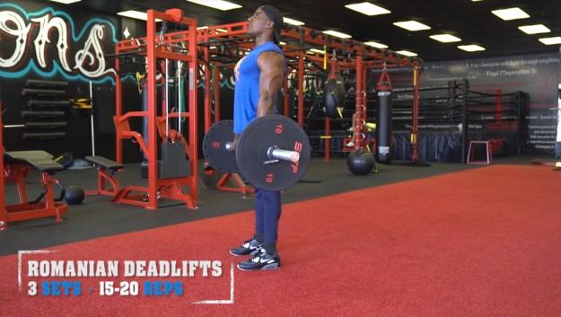 Romanian Deadlifts   V Shred's Ultimate Full Leg Workout