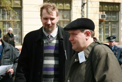"""Лауреат премії """"Дебют року-2009"""" Антон Санченко (зліва) та """"Дебют року-2010"""" Юрій Камаєв (зправа)"""