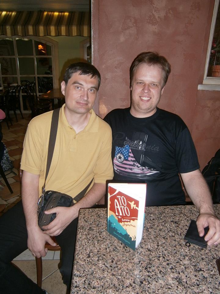 Під час запису цього інтерв'ю. Фото з особистої сторінки Дмитра Якорнова у Facebook.