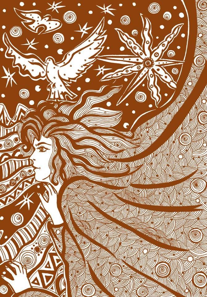 """Літавець. Ілюстрація з книги """"Українська міфологія"""""""