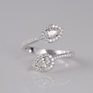 DOUBLE PEAR DIAMOND RING