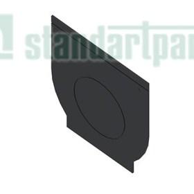 Заглушка торцевая пластиковая ЗЛВ-15.21.22-ПП для лотка водоотводного пластикового 6321-UA