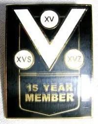 15 year member pin badge